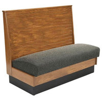 American Tables & Seating AS36-WBB-SS-D Bead Board Back Standard Seat Single Deuce Wood Booth - 36 inch High