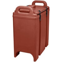 Cambro 350LCD402 Brick Red 3.375 Gallon Camtainer Insulated Soup Carrier