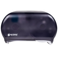 San Jamar R3600TBK Versatwin Double Roll Standard Toilet Tissue Dispenser - Black Pearl