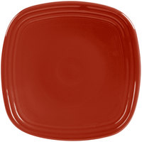 Homer Laughlin 921326 Fiesta Scarlet 7 1/2 inch Square Salad Plate - 12/Case