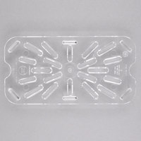 Cambro 40CWD135 Camwear 1/4 Size Clear Polycarbonate Drain Tray