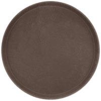 Carlisle 1600GL 076 GripLite 16 inch Tan Round Non Skid Serving Tray