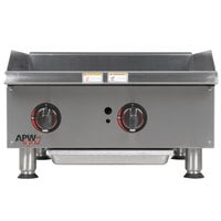 APW Wyott GGM-24i Champion 24 inch Countertop Griddle with Manual Controls and Safety Pilot - 50,000 BTU