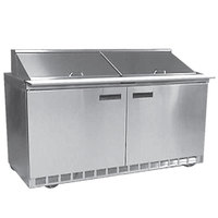Delfield UC4464N-24M 64 inch Reduced Height Mega Top Salad Prep Refrigerator with Two Doors