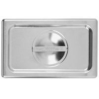 Vollrath 75140 Super Pan V 1/4 Size Solid Stainless Steel Steam Table / Hotel Pan Cover