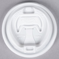 Dart Solo 16RCL White Travel Lid with Reclosable Tab - 1000/Case