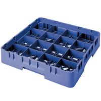 Cambro 16S900168 Camrack 9 3/8 inch High Blue 16 Compartment Glass Rack