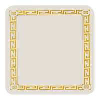 Royal Paper SPRBCSQ Customizable 14 pt. 3 3/8 inch Square Greek Key Design Paper Coaster - 10000/Case