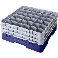 Cambro 36S534186 Navy Blue Camrack 36 Compartment 6 1/8 inch Glass Rack