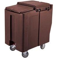 Cambro ICS125T131 Dark Brown Sliding Lid Portable Ice Bin - 125 lb. Capacity Tall Model