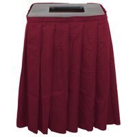 Buffet Enhancements 1BCTV20SET Black Square Topper with Burgundy Skirting for 35 Gallon Trash Cans