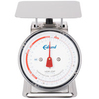 Edlund HDR-2DP 32 oz. Stainless Steel Portion Scale with 8 1/2 inch x 8 1/2 inch Platform