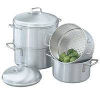 Vollrath 68123 Wear-Ever 5 Qt. Rice / Vegetable Steamer Set