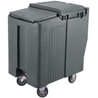 Cambro ICS175T191 Granite Gray Sliding Lid Portable Ice Bin - 175 lb. Capacity Tall Model