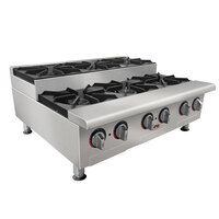 APW Wyott GHPS-4i Stepped Four Burner Countertop Range