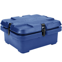 Cambro 240MPC186 Camcarrier 4 inch Deep Navy Blue Top Loading Inuslated Food Pan Carrier