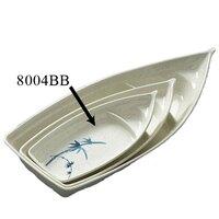 Blue Bamboo Melamine 13 oz. Sushi Boat – 9 1/2 inch x 4 1/2 inch 12 / Pack