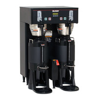 Bunn 34600.0007 Black BrewWISE Dual ThermoFresh DBC Brewer with Funnel Lock - 120/208V, 5700W