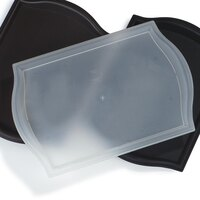 Carlisle 1319BT30 Customizable Translucent Bistro Tray 13 inch x 19 inch - 12/Case
