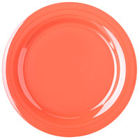 Carlisle 4300252 Durus 10 1/2 inch Sunset Orange Narrow Rim Melamine Plate - 12/Case