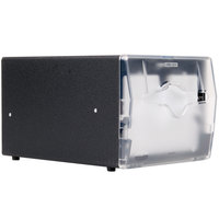 Vollrath 7540-06 Black One Sided Countertop Limited Sidefold Napkin Dispenser with Clear Faceplate
