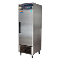 Turbo Air TSR-23SD 27 inch Super Deluxe One Section Solid Door Reach in Refrigerator - 23 Cu. Ft.