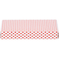 7 3/8 inch x 4 inch x 1 1/8 inch 2-Piece 1/2 lb. Valentine's Day Heart Candy Box - 125/Case