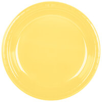 Creative Converting 28102031 10 inch Mimosa Plastic Banquet Plate - 20 / Pack