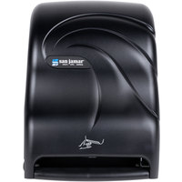 San Jamar T1490TBK Smart System Oceans Hands Free Roll Towel Dispenser - Black Pearl