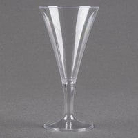 Fineline Tiny Temptations 6412-CL 2 oz. Tiny Barware Clear Plastic Round Champagne Flute - 96/Case