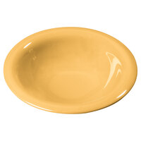 Carlisle 3303622 7 1/4 inch Honey Yellow Sierrus 12 oz. Rimmed Bowl - 24 / Case
