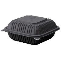 Green Wave Ultra ET-BOO-266 6 inch x 6 inch x 3 inch Black Burger Box - 50 / Pack