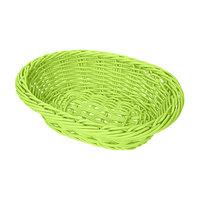 GET WB-1503-G 9 inch x 6 3/4 inch x 2 1/2 inch Designer Polyweave Green Oval Basket - 12 / Case