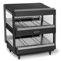 Nemco 6480-24SB Black 24 inch Slanted Double Shelf Merchandiser - 120V