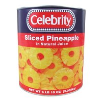 Sliced Pineapple Rings in Natural Juice 6 - #10 Cans / Case