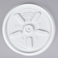Dart Solo 12JL White Vented Lid - 1000/Case