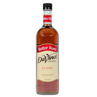 DaVinci Gourmet 750 mL Butter Rum Classic Coffee Flavoring Syrup