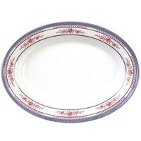 Rose 10 inch x 7 1/2 inch Oval Melamine Deep Platter - 12 / Pack