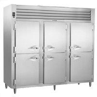 Traulsen AHT332WPUT-HHS 83.2 Cu. Ft. Half Door Three Section Pass-Through Refrigerator - Specification Line