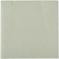 Hoffmaster 180346 Soft Sage Green Beverage / Cocktail Napkin - 1000 / Case