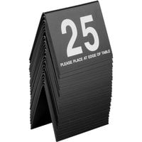 Cal-Mil 234-13 Black/White Double-Sided Number Tents 1-25 - 3 1/2 inch x 3 inch