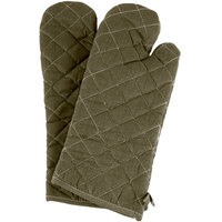 Choice 17 inch Flame-Retardant Oven Mitts - Pair