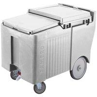 Cambro ICS125LB180 Light Gray Sliding Lid Portable Ice Bin - 125 lb. Capacity