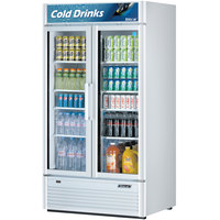 Turbo Air TGM-35SD White 40 inch Super Deluxe Two Door Refrigerated Merchandiser - 37 Cu. Ft.