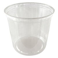 Dart Solo DM24R-0090 Bare 24 oz. Clear PET Deli Container Recycled - 500 / Case