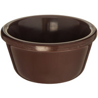 Carlisle S28069 3 oz. Smooth Chocolate Brown Melamine Ramekin - 48/Case