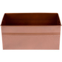 American Metalcraft BEVC1266 1/3 Size Copper Rectangular Hammered Beverage Tub - 12 1/4 inch x 6 1/4 inch x 6 inch