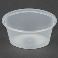 Newspring E1002 ELLIPSO 2 oz. Clear Oval Plastic Souffle / Portion Cup - 1000/Case