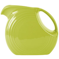 Homer Laughlin 484332 Fiesta Lemongrass 2.1 Qt. Large Disc Pitcher - 2 / Case