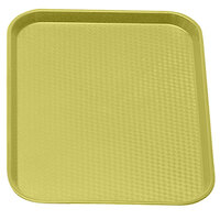 Primrose Yellow Cambro 1216FF108 12 inch x 16 inch Customizable Fast Food Tray 24/Case